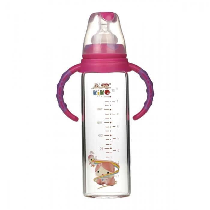 كيكو رضاعة طفل زجاج بمقبض  240 مل